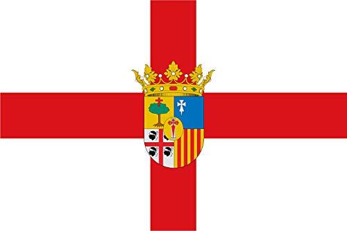 magFlags Bandera Large Provincia de Zaragoza | Bandera Paisaje | 1.35m² | 90x150cm