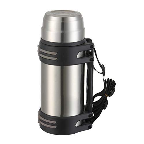 Auto-Reisekessel, 850 ml, 12 V, tragbar, Edelstahl, elektrischer Auto-Wasserkocher, Kaffeebecher mit Zigarettenanzünder-Ladegerät, elektrischer Wasserkocher für heißes Wasser, Kaffee, silber, L