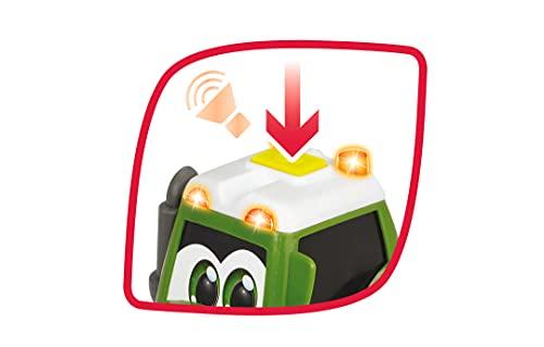 Dickie Toys 203815001 Happy Fendt Hay Baler, Traktor mit Heuballenpresse, Spielauto für Kinder ab 1 Jahr, Traktor, Bauernhof, Trecker, inkl. Heuballen, Licht & Sound, 30 cm