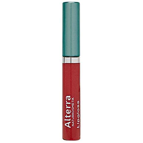 Alterra Lipgloss 1 Stück Farbe 15: Soft Red, für natürlich gepflegte & glänzende Lippen, BDIH kontrollierte Naturkosmetik