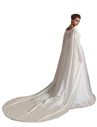 vipgowns Elfenbein Winter Cape Umhang Braut Hochzeit Schal Brautkleid Mantel Braut Cape (Weiß, 250cm)