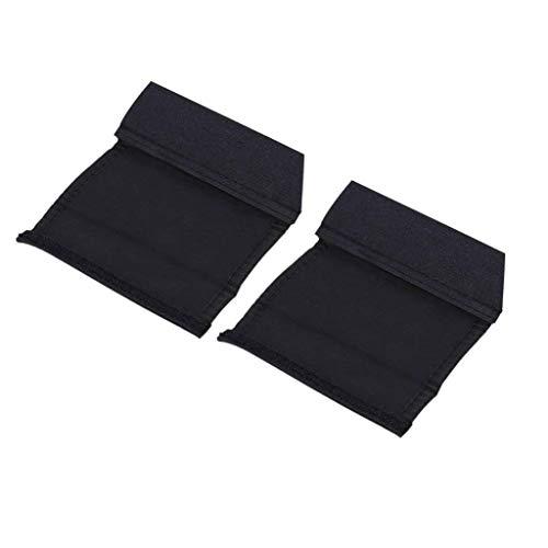 Goodplan 2 Stück Kinderwagen Griff Griffschutz Rutschfeste Klettmatte Abdeckung (schwarz)