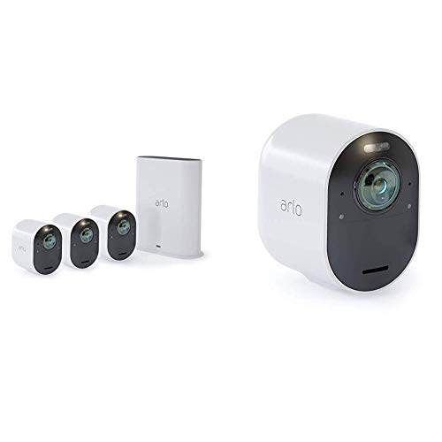 Arlo Ultra Vms5440 Sistema di Videosorveglianza Wi-Fi con 4 Telecamere...