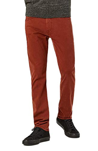 34 Heritage (Charisma - Rust Twill Comfort Rise Relaxed Straight Leg Jeans (W42 L32)