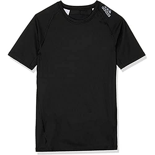 adidas Alphaskin Sport T-Shirt T-Shirts, Niños, Black, 13-14A