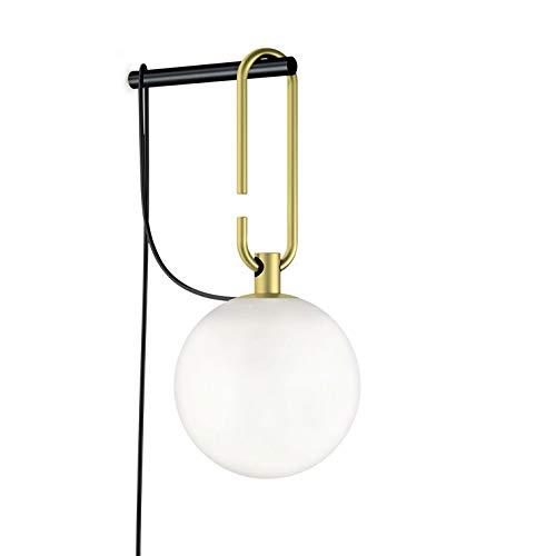 NH W-Applique in vetro e metallo con interruttore su cavo Ø 15 cm, ottone Artemide – designato da Neri & Hu