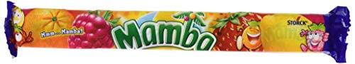Mamba Kaubonbon – Fruchtiger Süssigkeiten Mix – Fröhliche Bonbons zum Naschen für dieganze Familie – (24 x 4er Stangen)