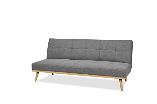 Amazon Basics- 3-Sitzer-Sofabett, 182 x 80 x 80 cm, Dunkelgrau
