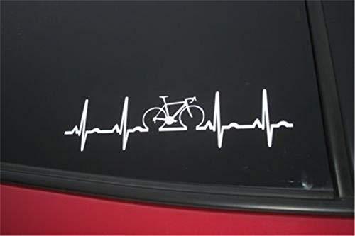 Wandtattoo Kinderzimmer Auto Aufkleber Auto Aufkleber Rennrad Herzschlag gestanzte Fenster Aufkleber 12,5 cm