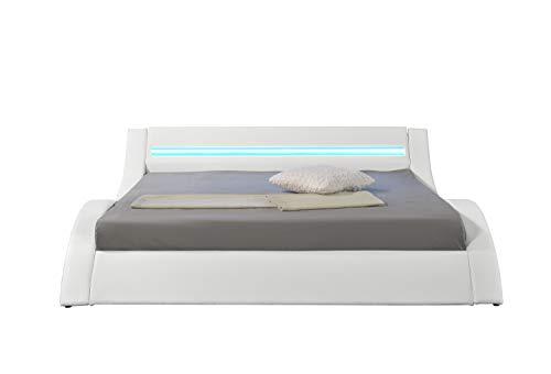 HYPNIA - Cama Design LED blanca-140 x 190 cm