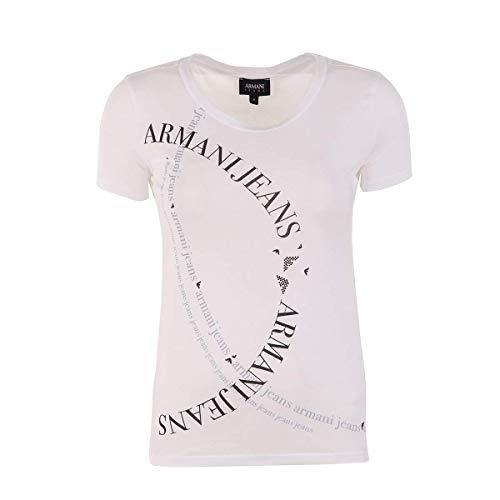 Armani Jeans Damen 3Y5T565JPXZ T-Shirts, Weiß (Bianco Ottico 1100), 42