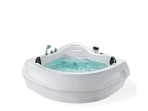 Moderne Badewanne mit Massagefunktion Sanitäracryl weiß Monaco II