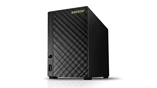 Asustor AS3102T V2 2-Bay NAS System (Intel Celeron 1.6GHz Dual-Core Prozessor (Braswell), 2 GB RAM, 2x Gigabit-LAN, HDMI 1.4b für 4K Playback, Raid 0, 1, JBOD)