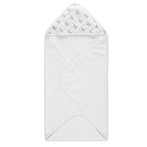 Aden by aden + anais Classic Hooded Baby Bath Towel, Super Soft 100% Cotton, Patures Sheep