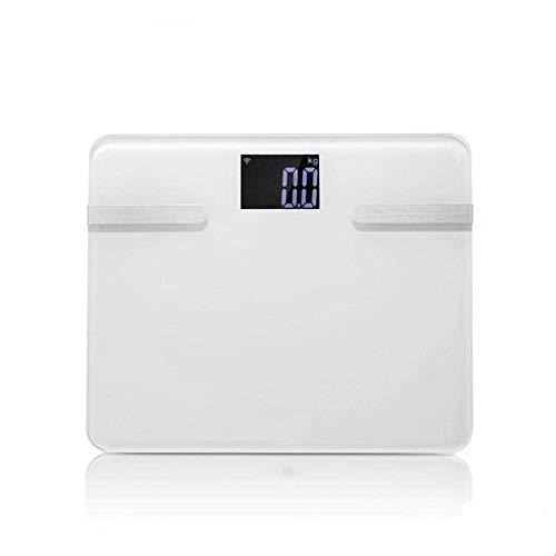 Busirsiz Balanza Escala de Peso Corporal, Baño Digital Escalas Medida de Suelo Soporte Android4.3 iOS Body Balance, 180Kg / 400lb Blanca