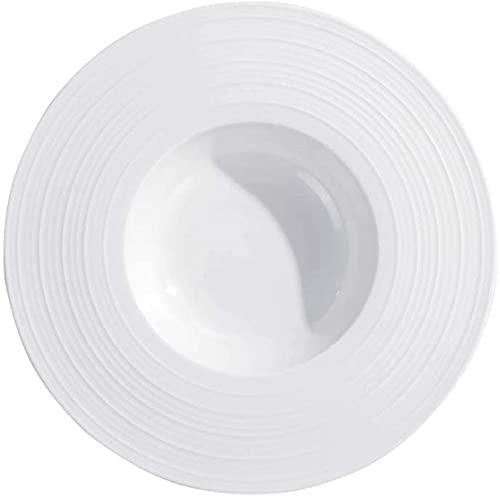CHANGAN Mr.Kkkk Cena Placas Pasta Placas Cena Blanco Sirviendo Plato Plato Plato Plato Sirviendo Platos Placas para la vajilla de Porcelana (Tamaño: Medio)