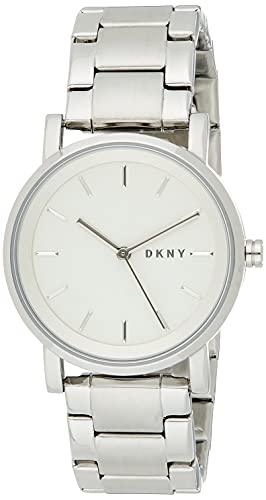 DKNY Reloj Analógico para Mujer de Cuarzo con Correa en Acero Inoxidable NY2342