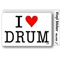 ILBT-168 アイラブステッカー I love DRUM (ドラム) ステッカー