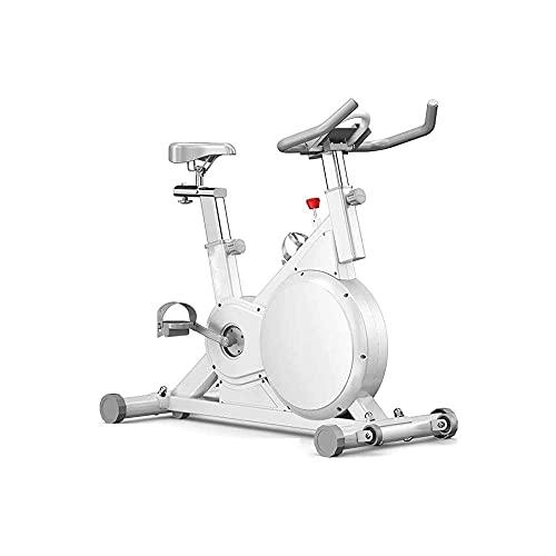 FHDFH Bicicleta estática para interior y interior, asiento ajustable y manillar, soporte para tableta, estable y silencioso