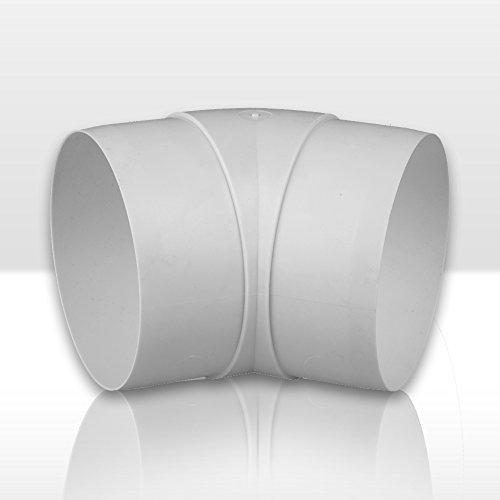 Bogen 45° Lüftungsrohr ABS Rundrohr Ø 100 Abluft-Rohr Awenta 100 mm, PVC