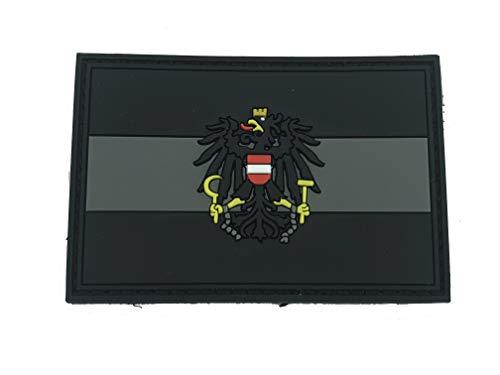 Österreicher Österreich Schwarz Flagge PVC Patch Klett Emblem Abzeichen