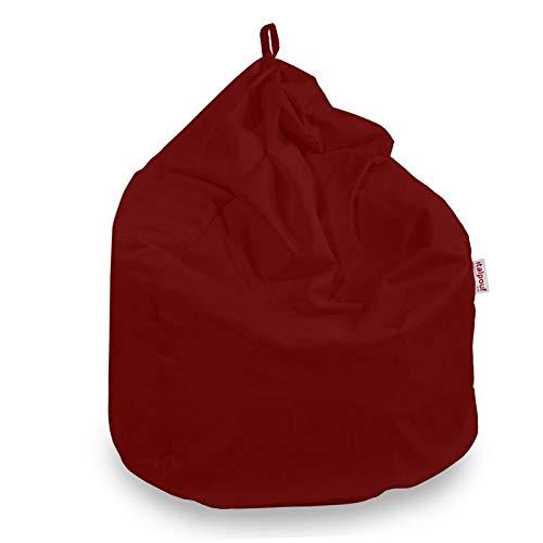 Italpouf Sitzsack Riesensitzsack XL Grau 90 x 115cm 350l Füllung Indoor Beanbag Mikrofaser Möbel