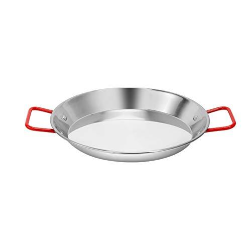 LIMX Sartén Antiadherente Paella española Pan Pan Freír Pan Binaural Mariscos Pan de Acero Inoxidable Restaurante Coreano Ensalada Pan Pan Pan de Cocina (Color : Cooker, Sheet Size : 30cm)