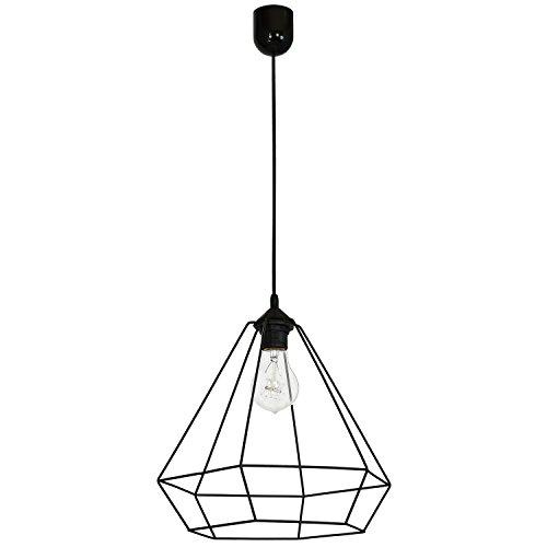 Alma 1 Plafonnier Lampe suspension Lampe suspension Lumière pendante Noir