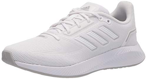 adidas Women's Runfalcon 2.0 Running Shoe, White/White/Silver Metallic, 8