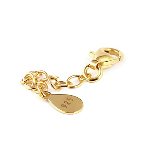 My-Bead Verlängerungskette 4.5cm 925 Sterling Silber 24K doppelt vergoldet Juweliers- Qualität DIY