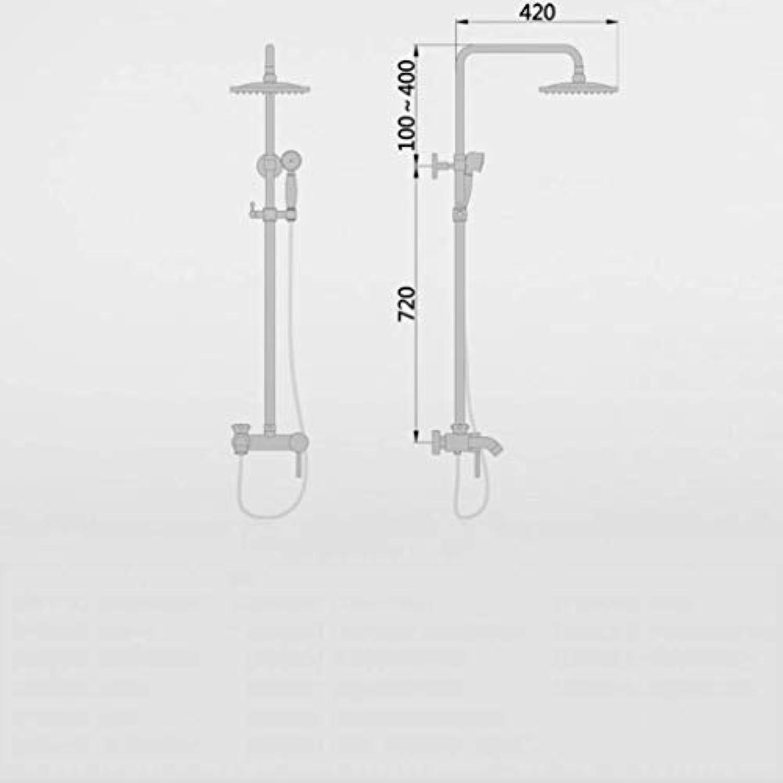 GWFVA Badezimmer-Brausebatterie, Brausebatterie, Handbrause, Warm- und Kaltwasser-Mischbatterie, Kontinental-, Retro-, DREI-Gang-Schnellffnungsdusche, antike Kupferduschkabine