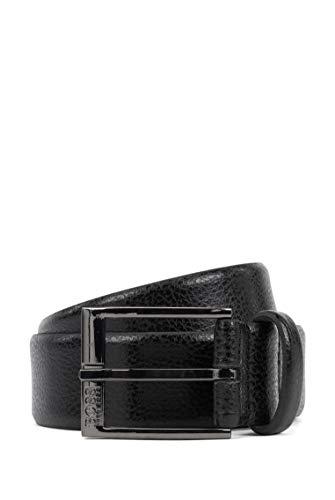 BOSS Herren Elloy Sz35 Gürtel aus italienischem Leder mit geprägter Narbung