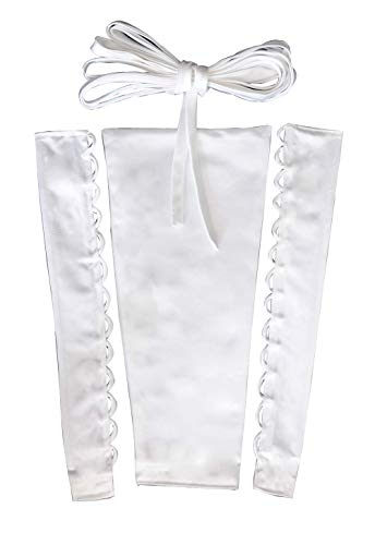 YCShun Womens Wedding Dress Zipper Replacement Adjustable Fit Satin Corset Back Kit Lace up for Prom Dress Ivory 26 Inches