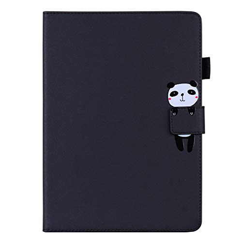Unichthy Case For iPad Air 10.5' (3rd Gen) 2019 / iPad Pro 10.5' 2017 Cute 3D Animal Patterned Shockproof Case with Anti-slip Stand 2 Card Slots Auto Wake/Sleep Cover Panda/Black