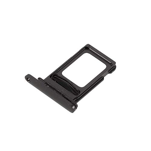 jbTec Dual SIM-Tray Karten-Halter passend für Apple iPhone 12 - Slot Schlitten Card Kartenhalter Karte Rahmen Simkarten Simkartenhalter Holder, Farbe:Schwarz