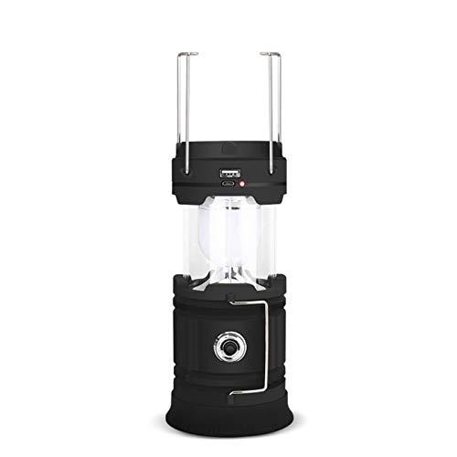 Luz de Camping Solar 18650 USB al Aire Libre Recargable Camping LED LED Luz portátil de Emergencia La luz Inferior y la luz de la luz Usan Dos Perlas de lámparas Diferentes