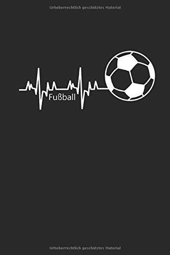 FUßBALL: Notebook Fußball Notizbuch Soccer Planer Fußballer Journal 6x9 liniert