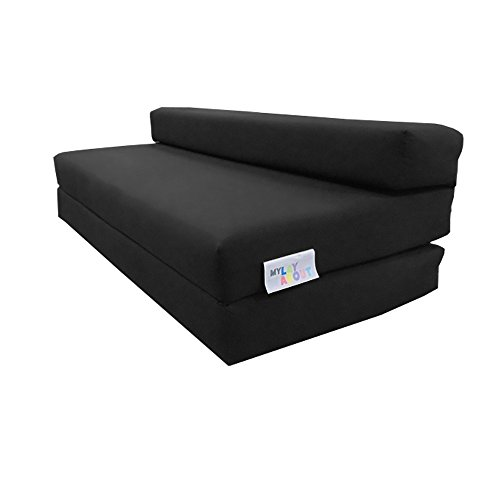 My Layabout Double Z Bed/Guest Bed/Fold Out Spare Bed Sofa/Chair/Futon/Mattress | Black