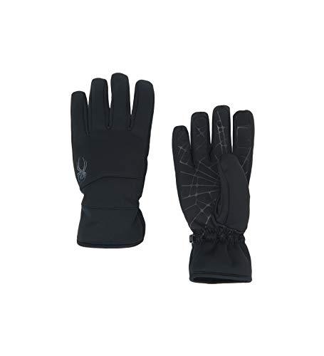Spyder Herren Facer Conduct Softshell Handschuh Skihandschuhe, Herren, Men's Facer Conduct Softshell Glove, Schwarz/Schwarz/Schwarz, Medium
