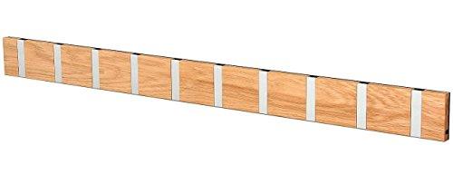 KNAX 5711394200659   Perchero de pared (10 unidades), color roble