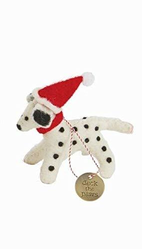 Mud Pie Christmas Felted Dog Ornament (Dalmatian)