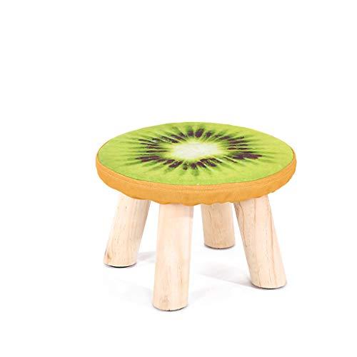 LJZslhei Kleiner Schemel-hölzerner Haushalts-Kleiner Stuhl-Mode-Schemel kreatives kleines Bank-Kiwi-Muster