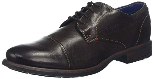 bugatti 3.13223E+11, Scarpe Stringate Derby Uomo, Marrone (Dark Brown 6100), 42 EU