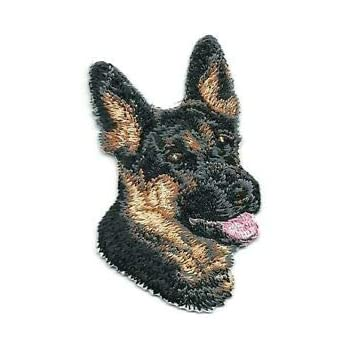 """1 3//4/"""" x 2 3//4/"""" German Shepherd Puppy Dog Breed Portrait Embroidered Patch"""