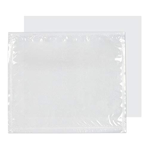 Purely Packaging PDE10 Dokumentenumschlag Briefumschläge 'Documents Enclosed' Haftklebung Transparent C7 111 x 123 mm | 1000 Stück