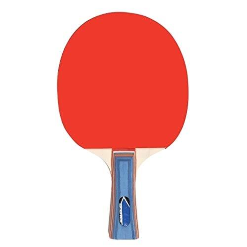 Vobajf Paleta de Ping Pong Tabla Tenis 2 Jugadores Set 2 Tabla de Penismo Bats Raquetas Se Dan la Mano Grips (Color : Red, Size : One Size)