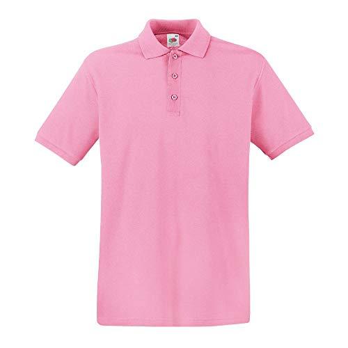 Fruit of the Loom - Premium Poloshirt / Pink, XL