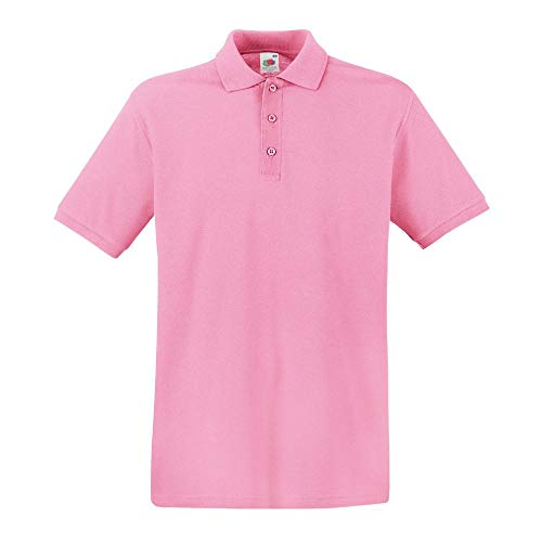 Fruit of the Loom - Premium Poloshirt / Pink, XL