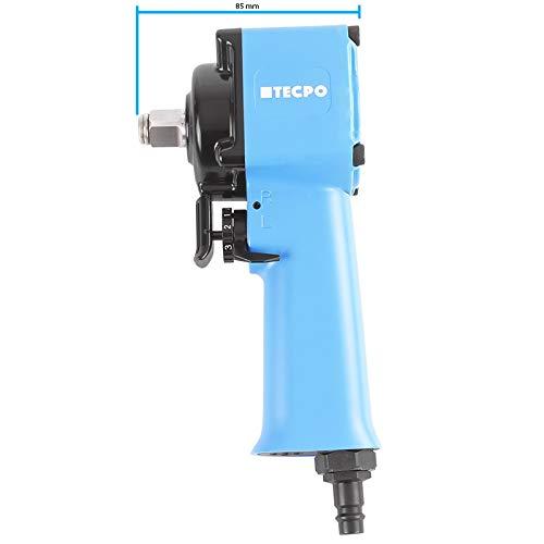 TECPO Mini Druckluft Schlagschrauber 1/2 Zoll Jumbo-Hammer-Schlagwerk 650 Nm Druckluftschrauber mehrstufiger Rechts/Linkslauf mit Einhand-Umstellung