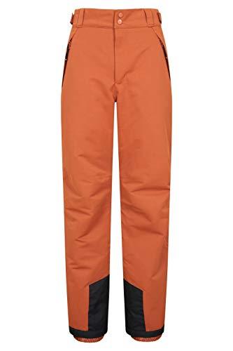 Mountain Warehouse Pantalon de Ski Luna pour Homme - Imperméable - Coutures Respirantes - pour l'hiver - Idéal pour Snowboard Orange Brulée L